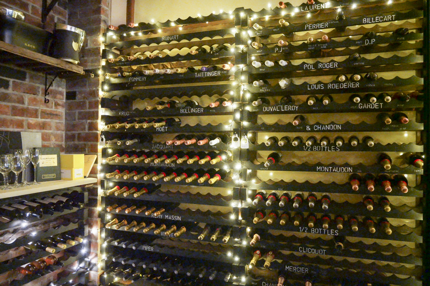 Champagne Celler in Epernay Leeds