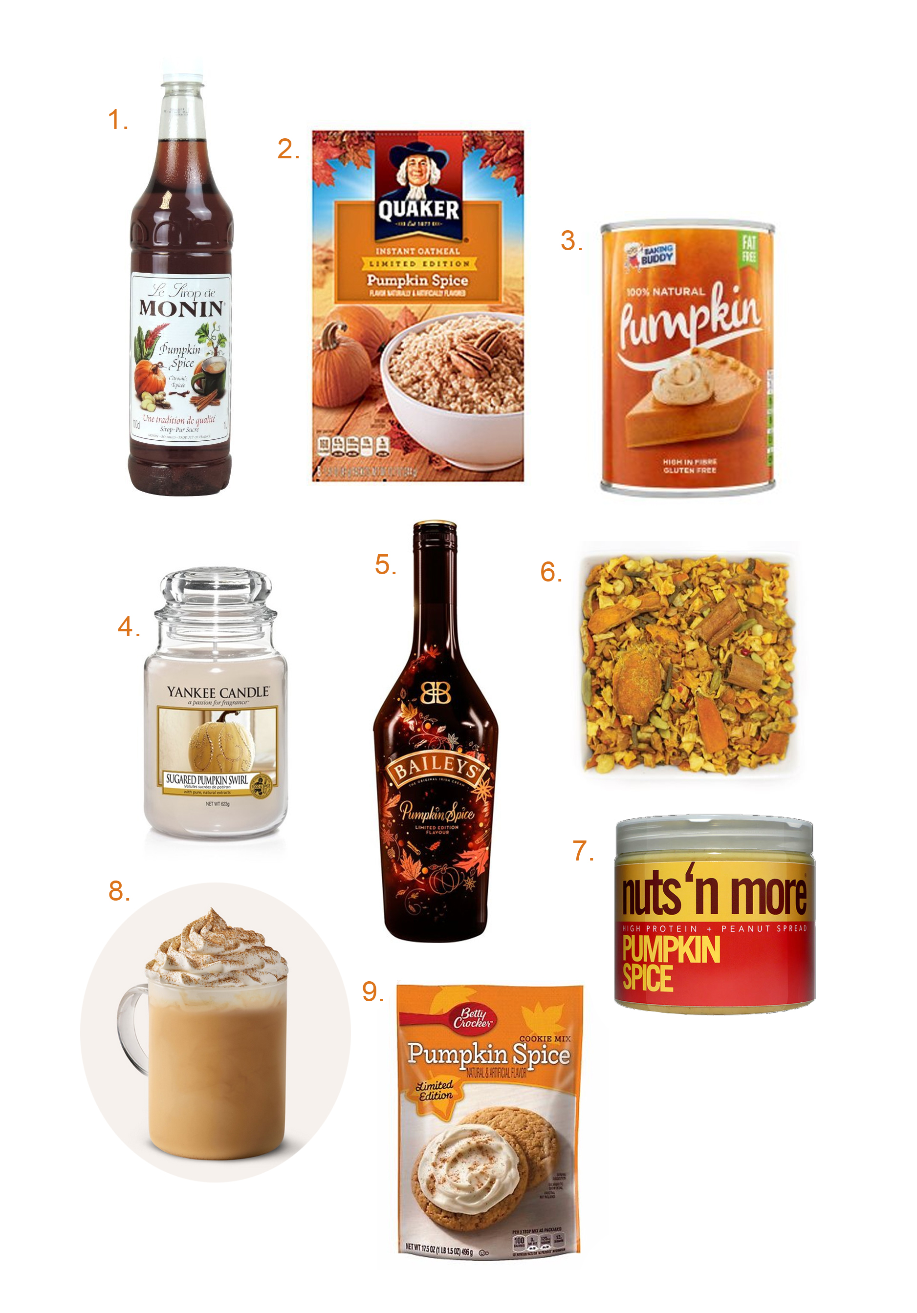 Pumpkin spice UK edition products that are available in the UK England