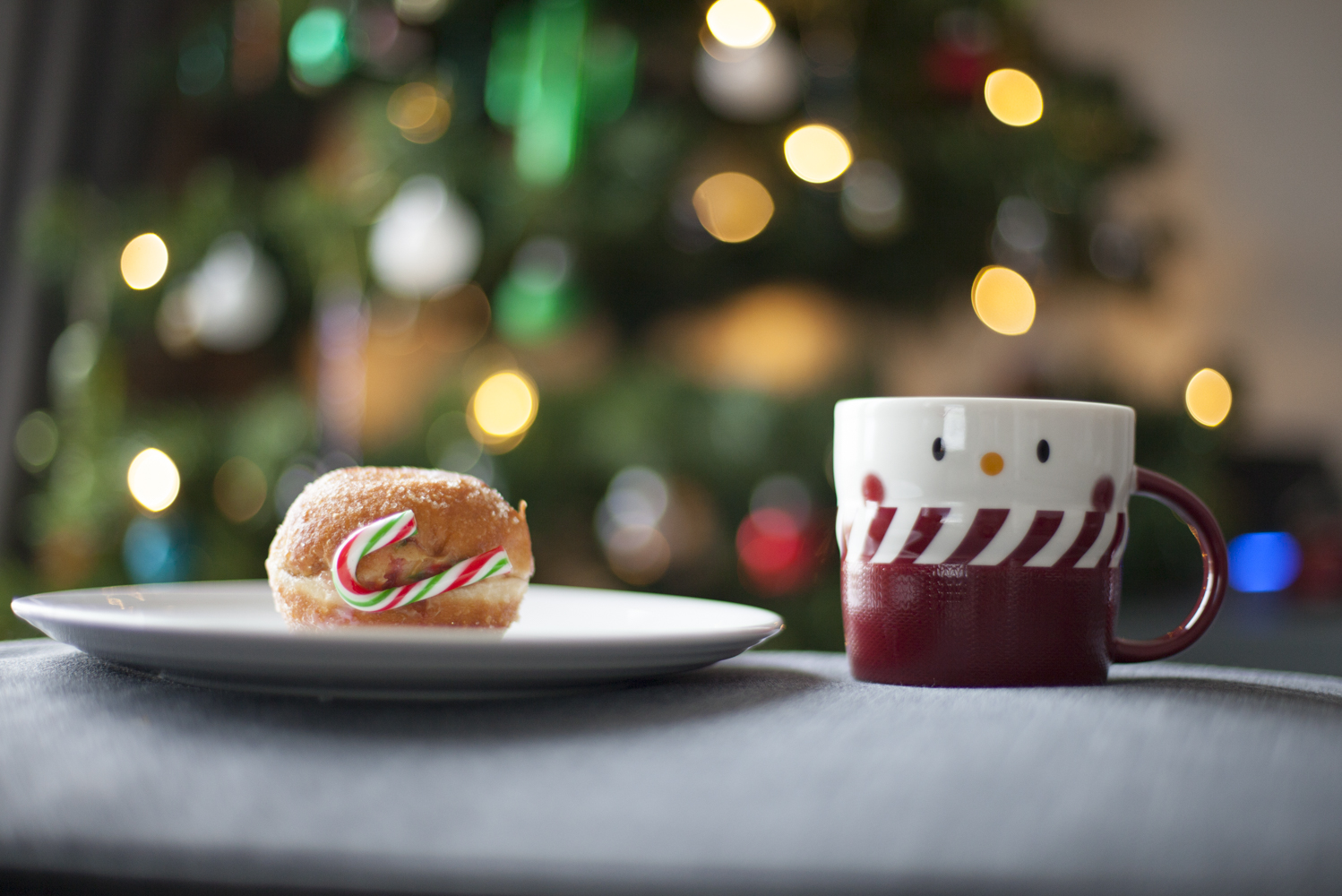 egg nog donut and rose mulled wine