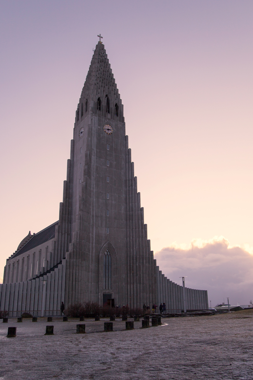 Hallgrimskirkja Church Golden Hour Light
