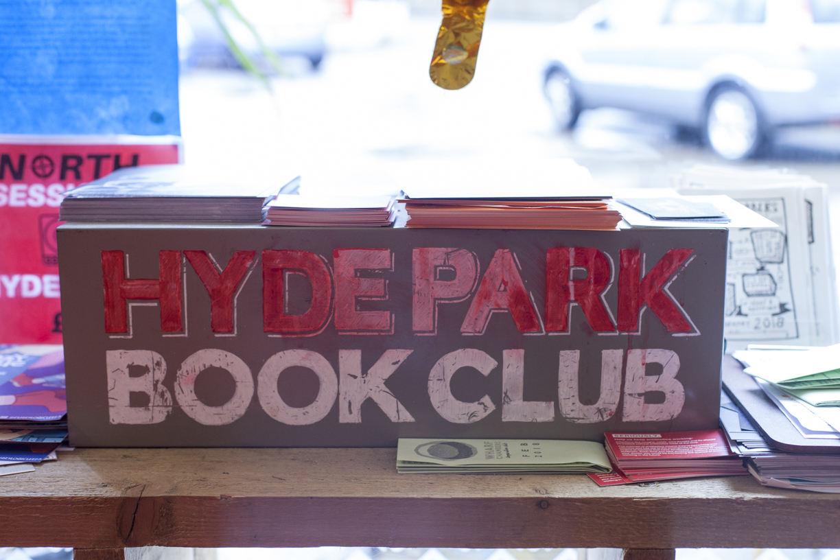 Hyde Park Book Club Leeds Handpainted sign