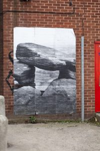 Sheffield Street Art paper art of brimham rocks