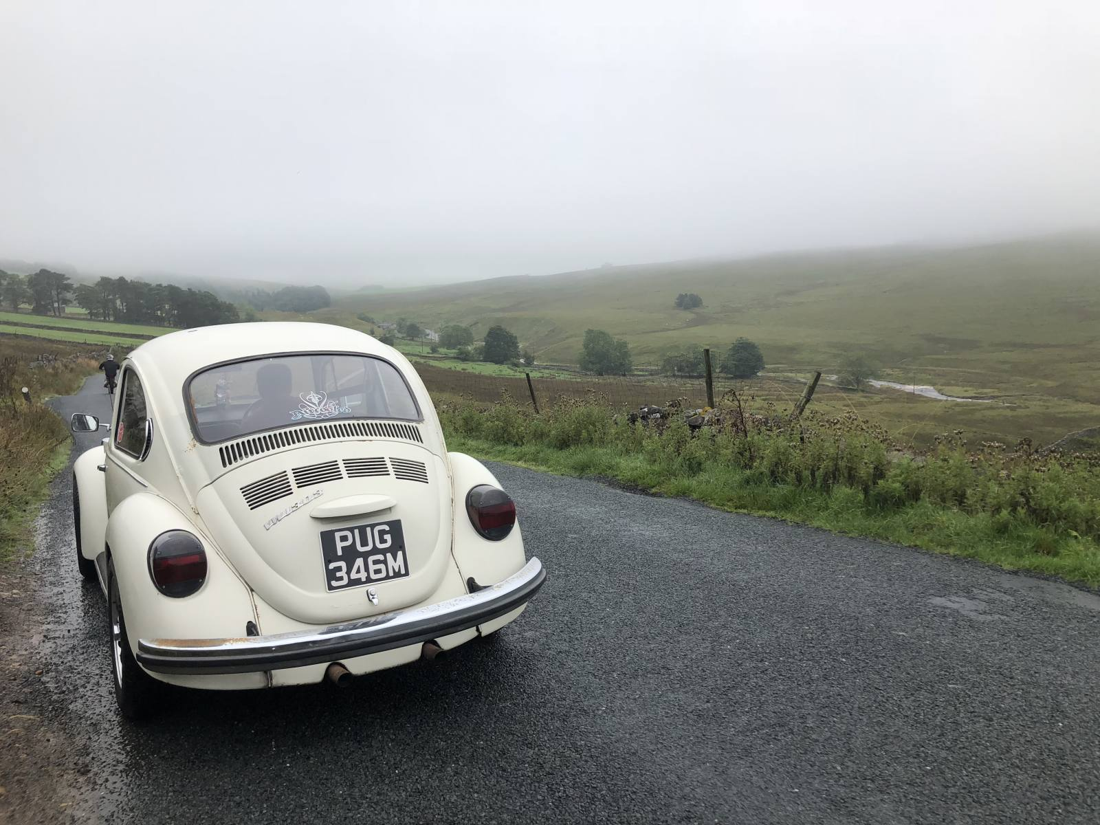 1973 vw beetle in the yorkshire dales