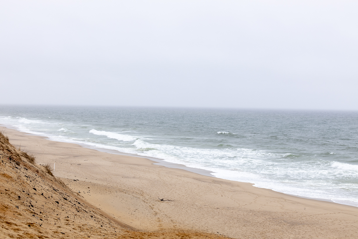 The Atlantic ocean from cape cod in winter