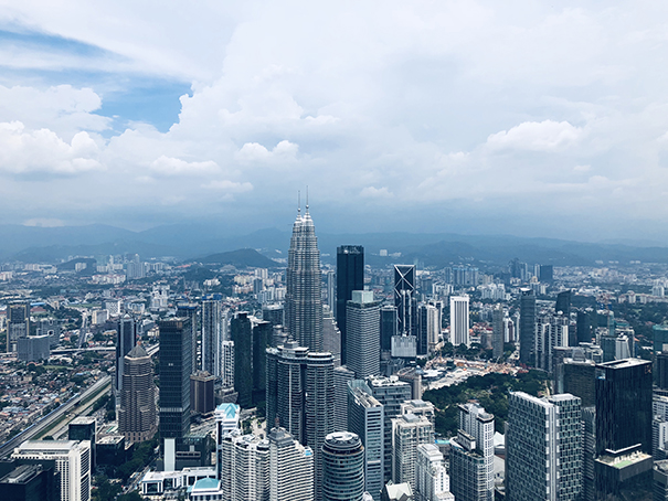 The view on a clear day from the KL Towers. Petronas view