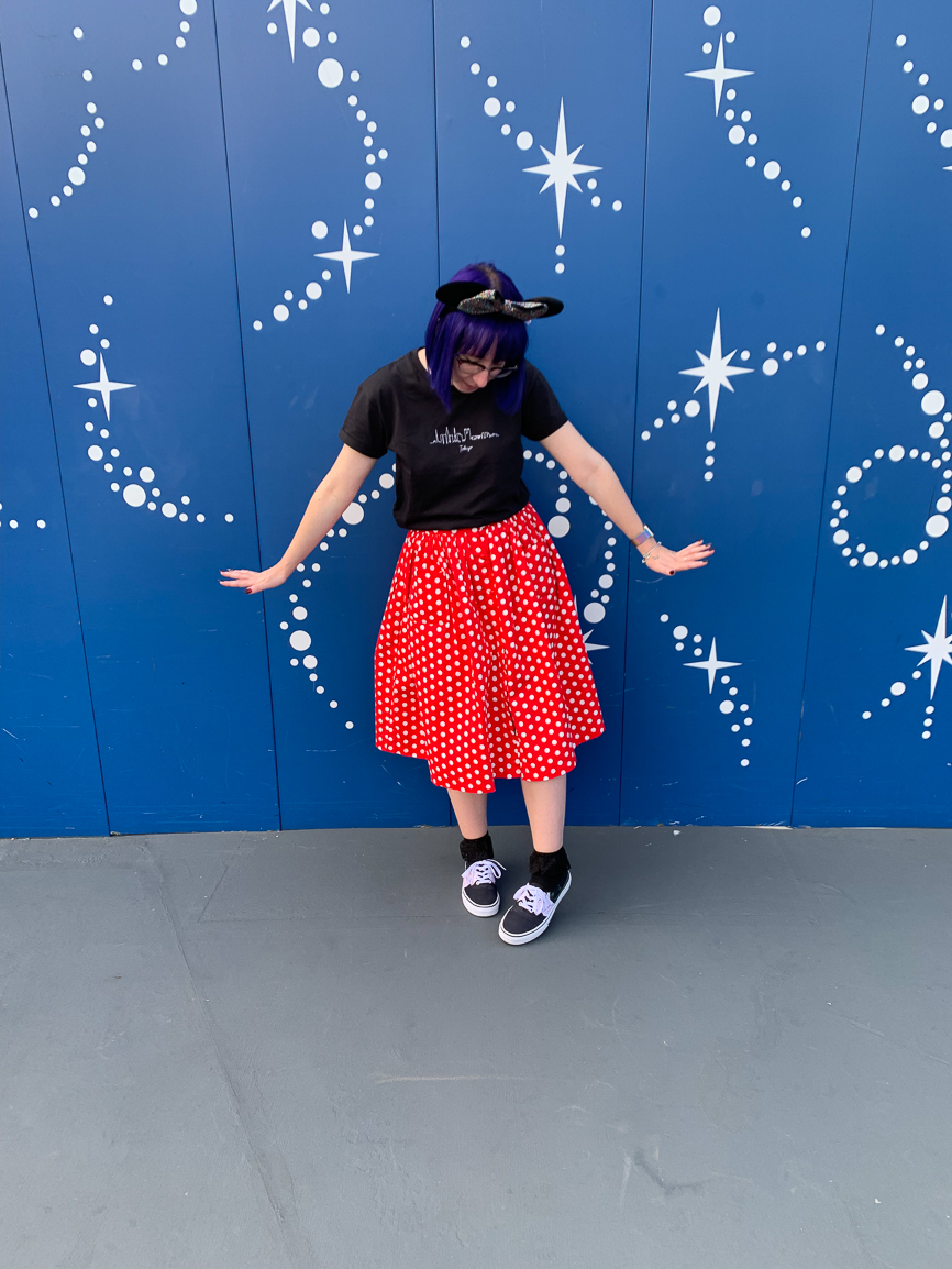 Minnei mouse inspired outfit for halloween at Tokyo Disney
