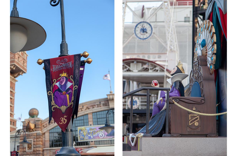 evil queen statue at Tokyo Disney Halloween
