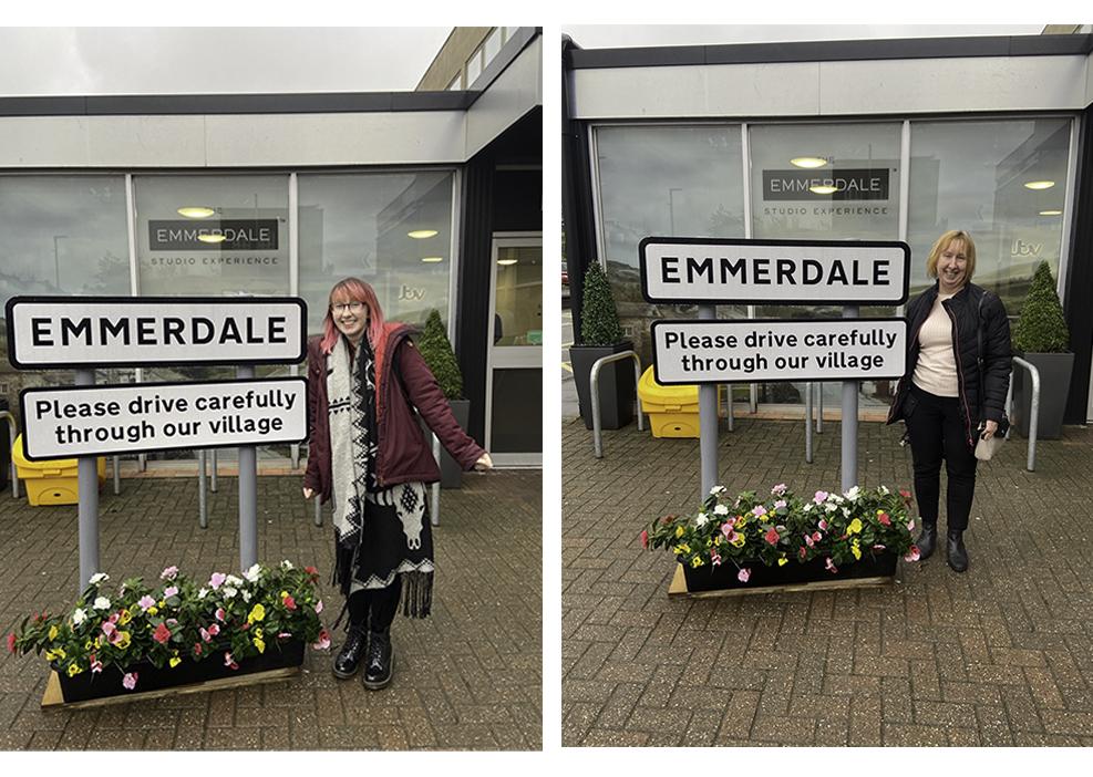 Emmerdale sign outside Emmerdale studio experience